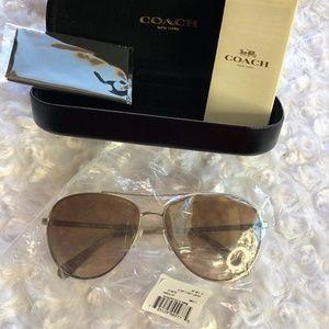 Coach Women's Aviator Sunglasses NWT